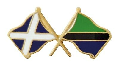 Tanzania Flag & Scotland Flag Friendship Courtesy Pin Badge - T1064