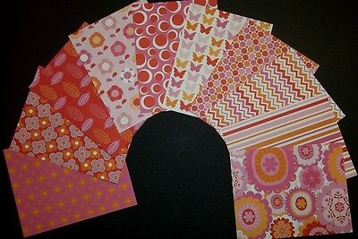 Beautiful Pink Patterned *PEONY HUES* Scrapbooking/Cardmaking Papers