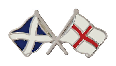 England Flag & Scotland Flag Friendship Courtesy Pin Badge - T97