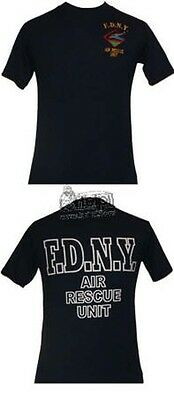 FDNY T-Shirt Air Unit Rescue in schwarz Feuerwehr New York fire  department