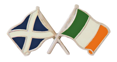 Ireland Flag & Scotland Flag Friendship Courtesy Pin Badge - T371