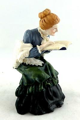 Dolls House Miniature 1:12 Resin People Victorian Grandmother Sitting Reading