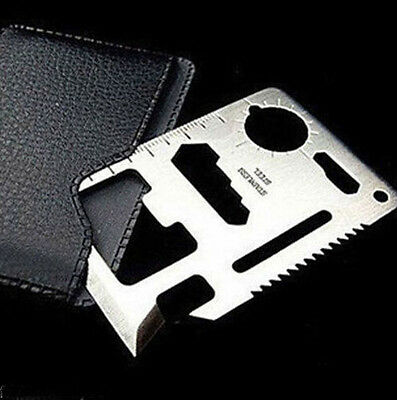 New 1pcs 11 in 1 Multi Credit Card Outdoor Survival Knife Camping Tool with SKW9