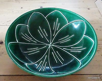 Grande Coupe Moderniste  En Faience De Longchamp 1950/60