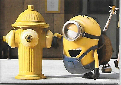 Minions Movie Minion Stuart Beside a Fire Hydrant Refrigerator Magnet NEW UNUSED