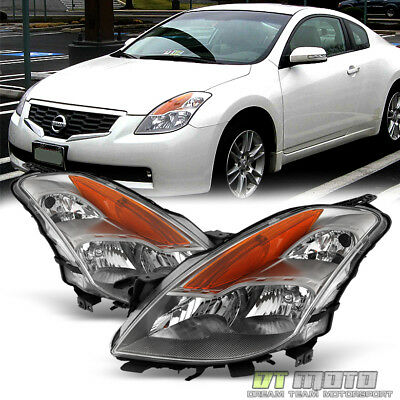 Fits 2008 2009 Altima Coupe Replacement Halogen Headlights Headlamps Left+Right