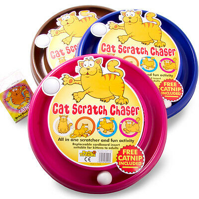 PetzTrendz® Cat Scratch Chaser FREE Cat-Nip - 3 Colours & Refills Available