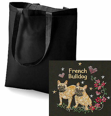 French Bulldog Tote Bag Embroidered by Dogmania