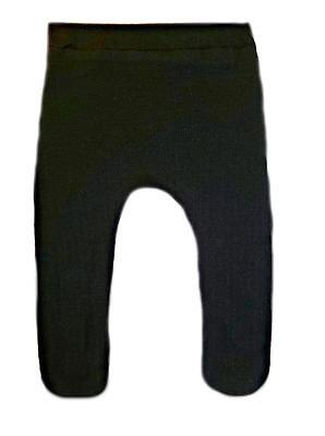 Beautiful Black Cotton Knit Pointelle Baby Tights - Preemie, Newborn and Toddler