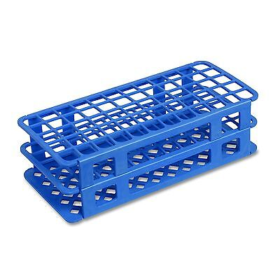 13 mm Plastic Test Tube Rack, 90 Holes, Blue