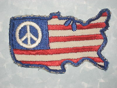 "USA Patch - Red White Blue - vintage - 3 3/4"" x 2 1/4"""