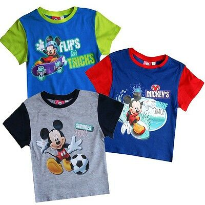 Micky Maus - Kinder T-Shirt Mickey Mouse Sommer Farbauswahl ( Gr. 86 - 116 )