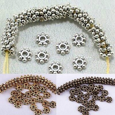 Wholesale 6mm Antique Nice Tone Daisy Flower Shaped Spacer Beads 100 Pcs