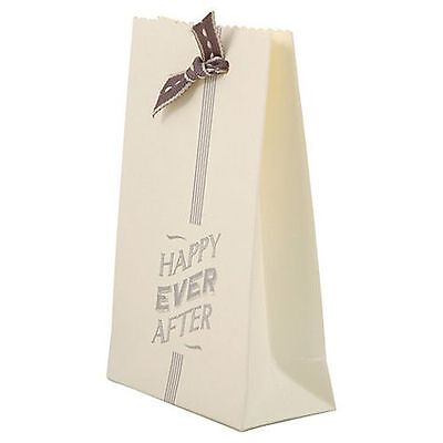 East of India Ivory Favour Bag x 6 Happy Ever After