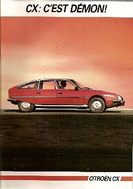 CITROEN CX 1984/85 French Market full range Sales Brochure