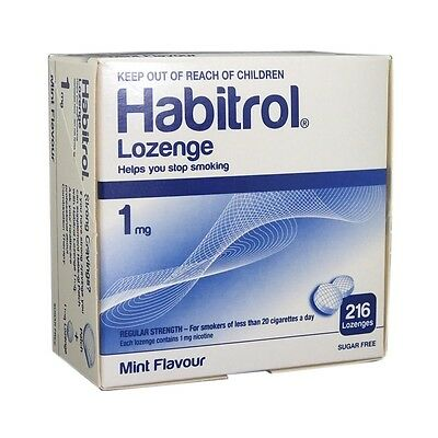 Habitrol nicotine lozenge 1 mg mint flavor (432 pieces, 2 box) NEW