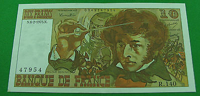 France 1975 10 Francs Note P 150b  XF pin hole