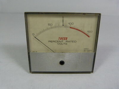 Tocco 20FP217 Percent Rated Frequency Meter 0-150 ! WOW !