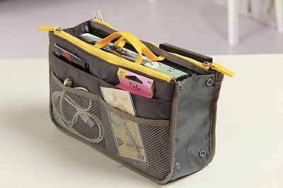 Ladies Handbag Organizer MultiPocket Portable Travel Pouch MakeUp Bag Tidy Purse