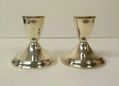 """Vintage Pair DUCHIN Sterling Silver 3"""" Weighted Candlesticks"""
