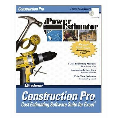 Adams PowerEstimator Construction Pro Estimating Software, 9 x 11.5 Inches New