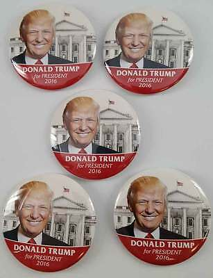 Donald Trump For President 2016 Set of 5 Campaign Buttons FREE SHIPPING! NEW