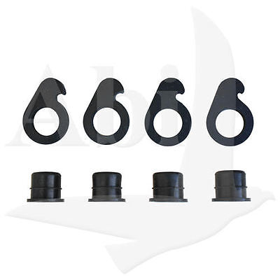 4 Pieces of 9 Lite or 5 Lite Cap and Lock for Windshield Truck Rack Auto Glass