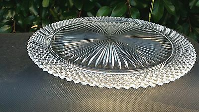 """Crystal Miss America 12"""" Footed Cake Plate"""