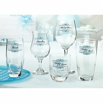 Set of 20 Glass Clings for Bridal Shower Party Decorations