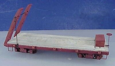 On3/On30 WISEMAN MODEL SERVICES #TYHDFLAT HEAVY EQUIPMENT MOVING FLAT CAR KIT