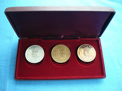 Fantasy 3 Double Florin Coin Size Set portrait Edward VIII 1937 boxed - Jersey