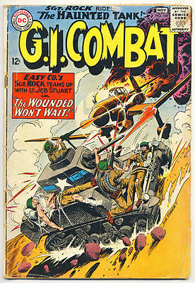 G.I. COMBAT #108 G, 1st SGT. ROCK X-over. Haunted Tank, War, DC Comics 1964