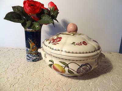 Spode Victoria England Apple Tulip Covered Vegetable Tureen New