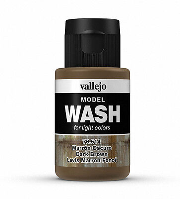 Vallejo Model Wash - Model Weathering - Dark Brown 35Ml - 76514