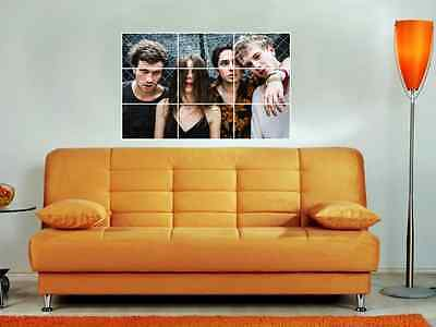 """Wolf Alice 35""""X25"""" Mosaic Tile Wall Poster Alternative Rock Ellie Rowsell"""