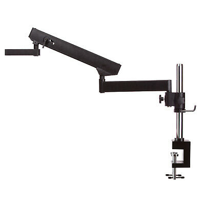 AmScope APC-NF Articulating Arm Stand w Post Table Clamp for Stereo Microscopes