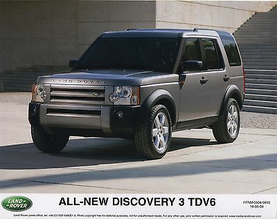 Land Rover Discovery 3 TDV6 World Debut Press Release/Photographs - 2004