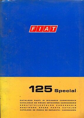 Fiat 125 Special 1970 bodywork carrozzeria parts book