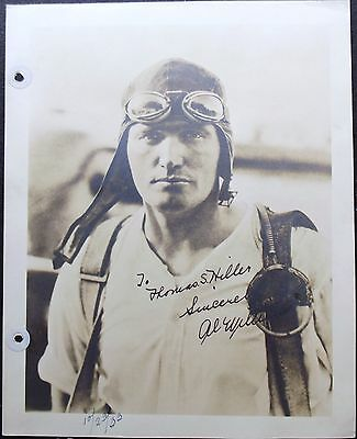 Major Alford Williams Aviation Pioneer Military Record Holder Signed Photograph