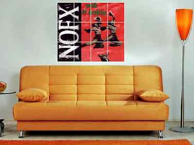 """Nofx 36""""X32"""" Inch Mosaic Wall Poster Punk In Drublic"""