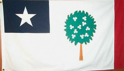 MISSISSIPPI REPUBLIC MAGNOLIA TREE  STATE OF FLAG NEW 3x5 ft