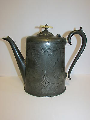 Antique Collectable Victorian Ornate Silver Plated Tea Pot