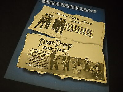DIXIE DREGS and AVERAGE WHITE BAND 1980 Dual PROMO POSTER AD
