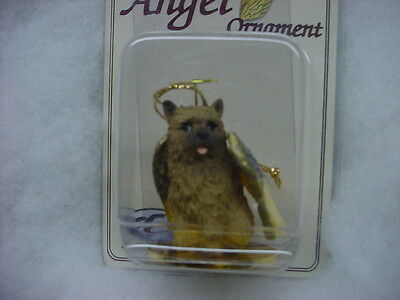 NORWICH TERRIER dog ANGEL Ornament HAND PAINTED Resin Figurine Christmas puppy
