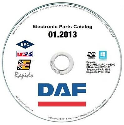 DAF Rapido 2013 EPC parts catalogue - catalogo ricambi