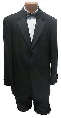 NEW Mens Bagir 42R Black 2 Button Notch Tuxedo Jacket & Pants Formal Wedding