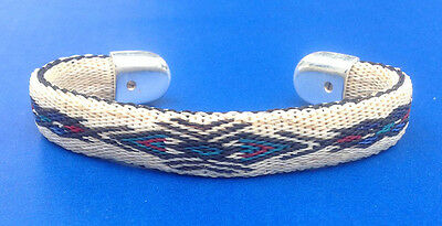 Western Jewelry Hand Crafted Hitched Horsehair Bracelet W/Silver Caped Ends