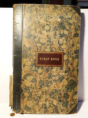 Antique Victorian Scrap Book 300 Pasted in  Famous Pictorial Engravings
