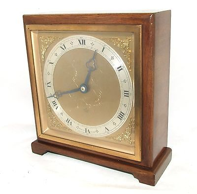 Large Walnut Bracket Mantel Clock by ELLIOTT LONDON