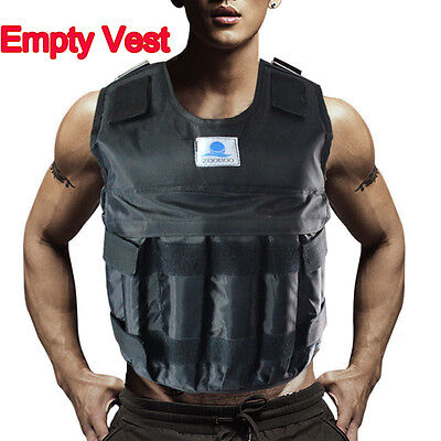 44LBS/20KG Adjustable Weight Weighted Vest Jacket Exercise Fitness Train (Empty)